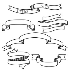 Vintage label design elements banners and ribbons