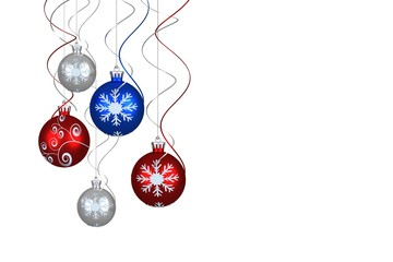 Digital hanging christmas bauble decoration