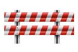 Vector illustration of a guardrail