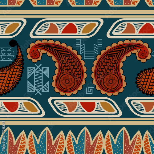 Spoed canvasdoek 2cm dik Kunstmatig Tribal seamless ethnic pattern. vector illustration