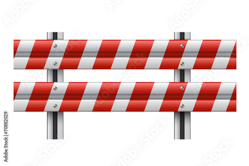 Vector illustration of a guardrail - 70882029