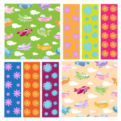 Seamless pattern collection for kids
