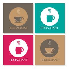 restaurant/coffee menu design set