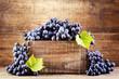 grape in wooden box