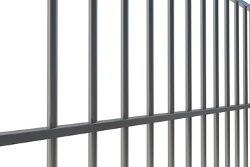 Digitally generated metal prison bars