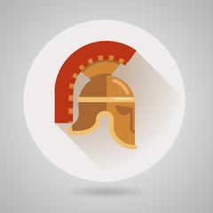 Ancient helmet flat logo