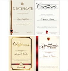 Certificate template collection