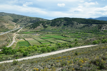 Spring view of the Spanish region Aragon