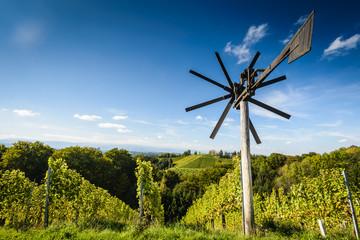 Klapotetz on vineyard,Styria,Austria.