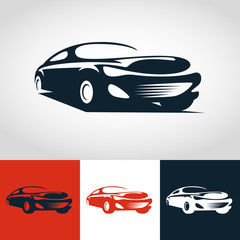 Abstract sport car illustration. Vector logo design template