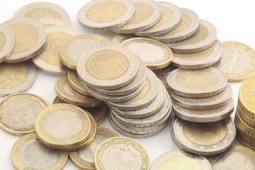 Euro münzen isoliert