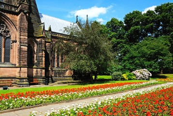 Cathedral and gardens, Chester © Arena Photo UK