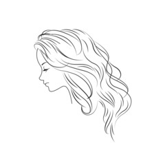 Girl in profile