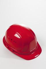 Roter Bauhelm, Bauen, Schutzhelm, Freisteller