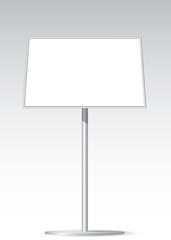 Floor standing poster holder.