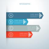 Modern infographics business arrow options - 70884423