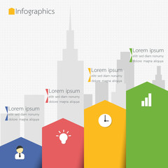 Modern Business City Diagram Infographics. Vector illustration.