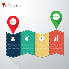 Modern Business Point of Success Infographics . Vector illustrat