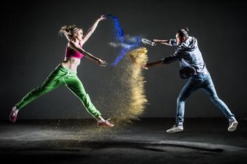Couple danse moderne