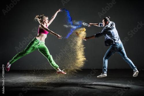 Papiers peints Gymnastique Couple danse moderne