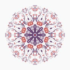 exotic round ornament