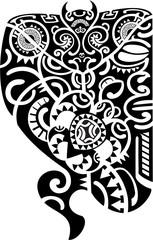 Maori tattoo leg design