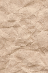 Recycle Beige Kraft Paper Crumpled Grunge Texture