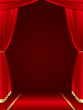 red curtains background Vector