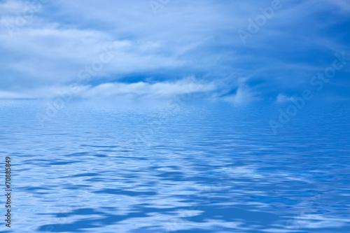 canvas print picture Wasser und Himmel