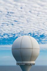 Ship Satellite Under Clouds