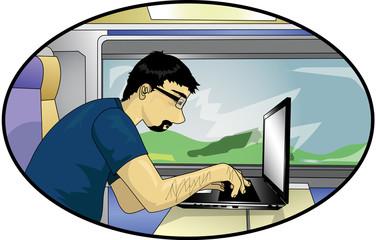 Informaticien en voyage