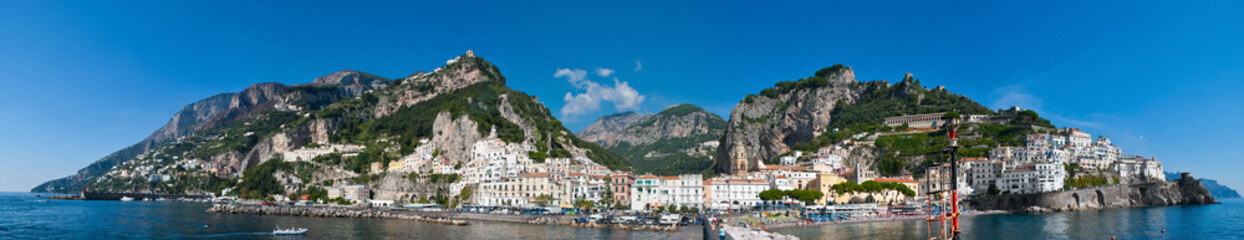 the landscape of Amalfi