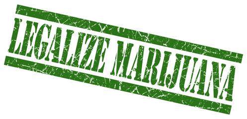 legalize marijuana green grungy stamp on white background