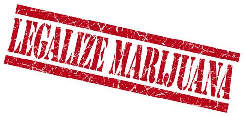 legalize marijuana red grungy stamp on white background