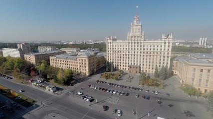 Flight of the large building. University.