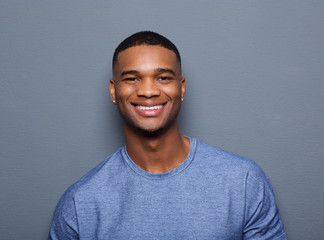 Handsome young black man smiling