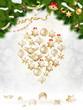 Christmas balls hanging on fir tree. EPS 10