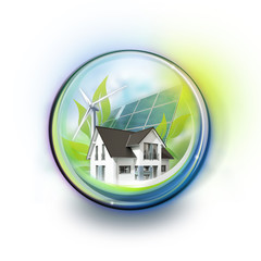 Eco House in Glassball