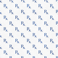 Blue and White Prescription symbol Pattern Repeat Background