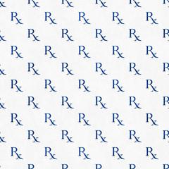 Blue and White Prescription symbol Pattern Repeat Background
