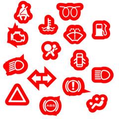 Vehicle Dash Warning Symbols