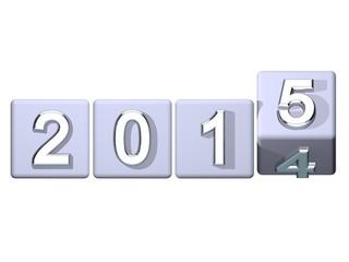 2014 > 2015 Würfel frontal Silvester Banner