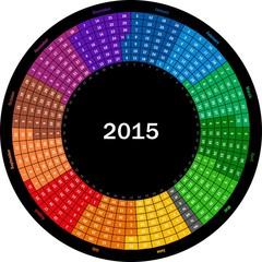 Round calendar 2015
