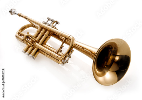 Fotobehang Muziekwinkel trumpet