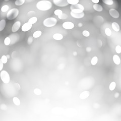 Bokeh light background with white copyspace.