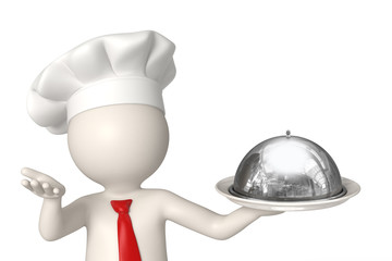 3d chef welcome plate