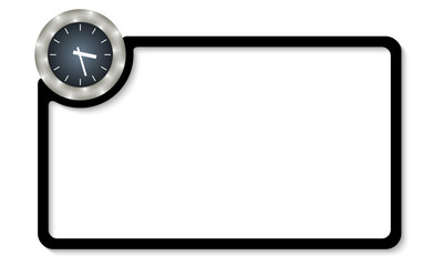 vector frame for entering text with watches