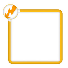 yellow frame for any text with flash