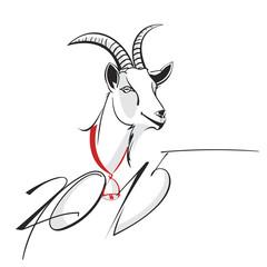 Goat 2015 New year Symbol