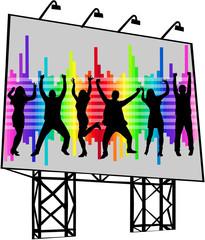 billboard - poster of dancing people